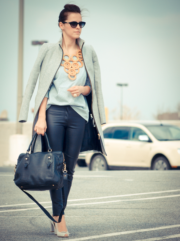 street style, diy jewelry,bittersweet colours, Champion, DIY, sporty-chic, Zara coat