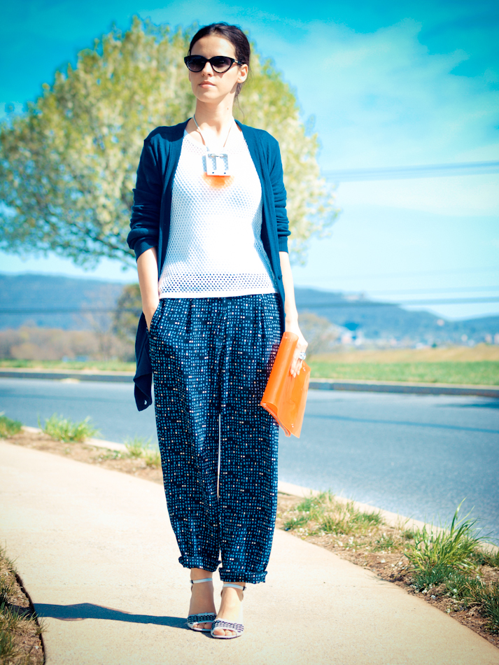 bittersweet colours, DIY, Marc by Marc Jacobs, orange colours, street style, geometric prints, diy clutch, spring