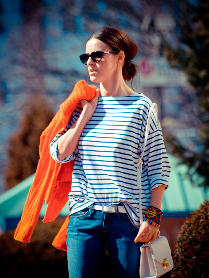 Benetton, bittersweet colours, COLORS, denim, Levis, Marc by Marc Jacobs, orange, outfit post, Spring trends, stripes, vintage, street style