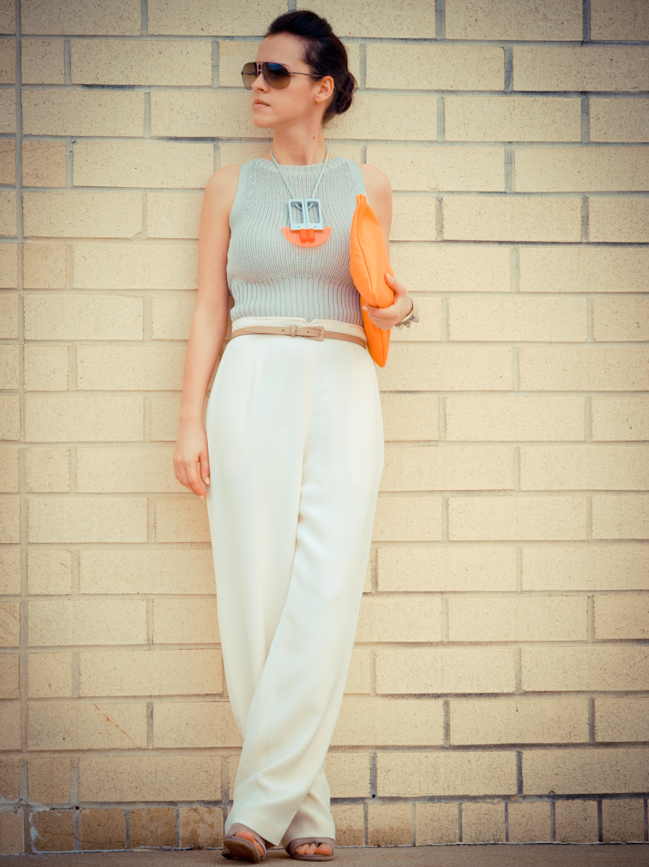 street style, bittersweet colours, COLLABORATIONS, DIY, orange, DIY necklace,