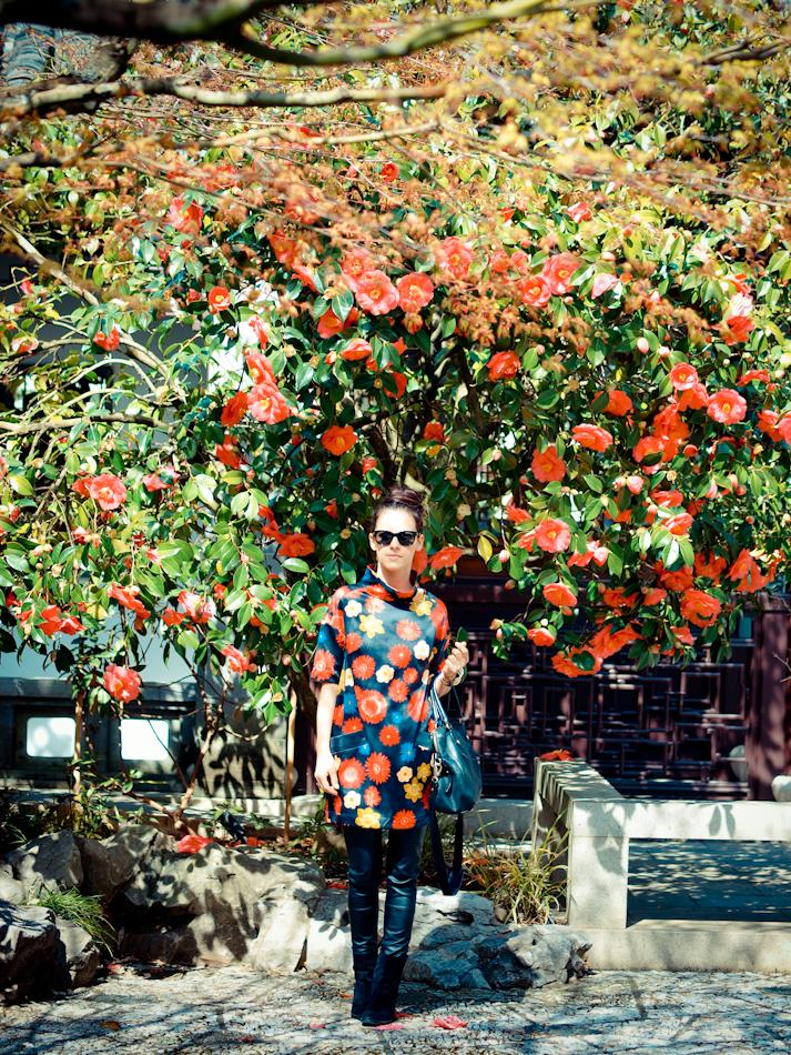 bittersweet colours, COLORS, outfit post, Portland trip, Poshlocket, Ralph Lauren, Spring trends, street style, floral print,