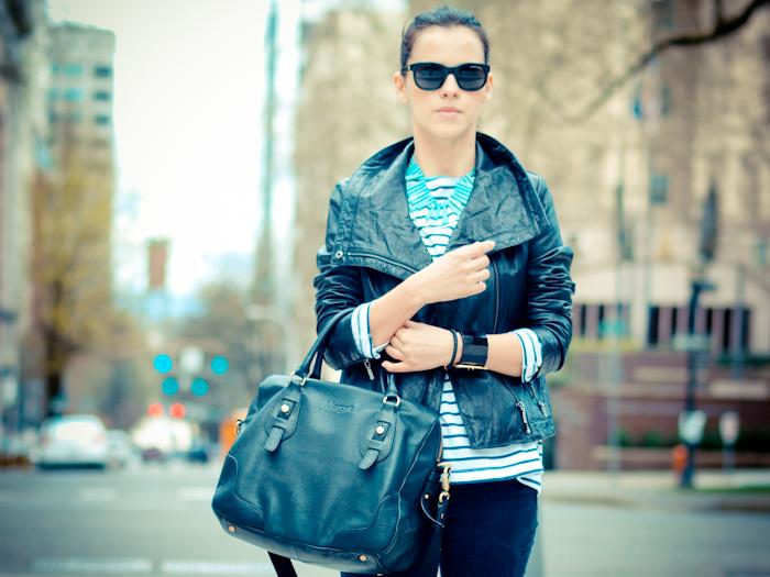 bittersweet colours, denim, kate spade, Levis, Nike, outfit post, Portland trip, Poshlocket, Ralph Lauren, Spring trends, stripes, vintage