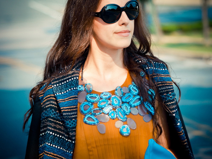 bittersweet colours, street style, colors, fashion trends, DIY necklace, american apparel clutch, bcbg max azria,