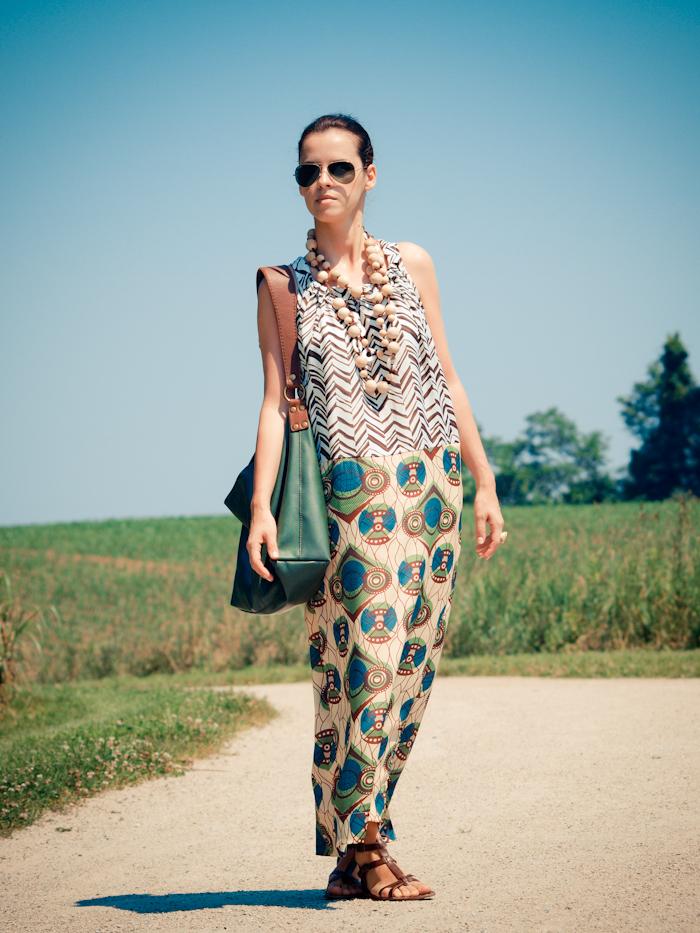 bittersweet colours, street style, colors, prints, summer trends, DIY necklace, matt bernson sandals,