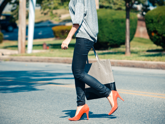 bittersweet colours, street style, colors, fashion trends, summer style, vintage, orange heels