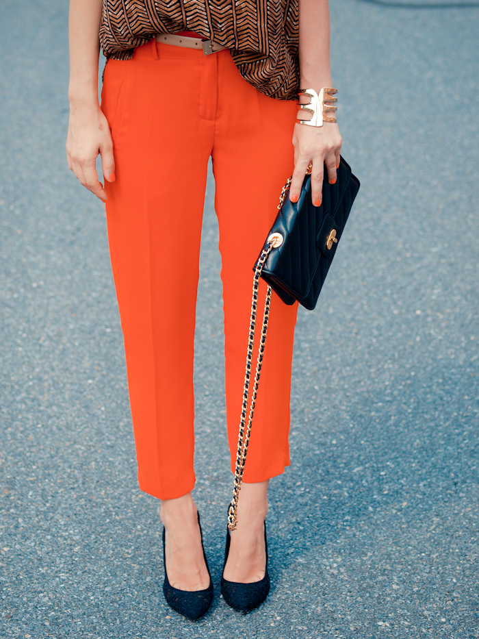 bittersweet colours, street style, colors, fashion trends, summer style, vintage, orange trousers