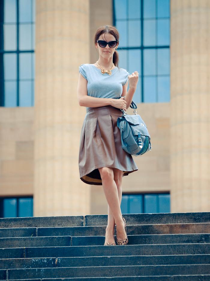 bittersweet colours, street style, colors, fashion trends, denim ,leather skirt , feminine look, Philadelphia,