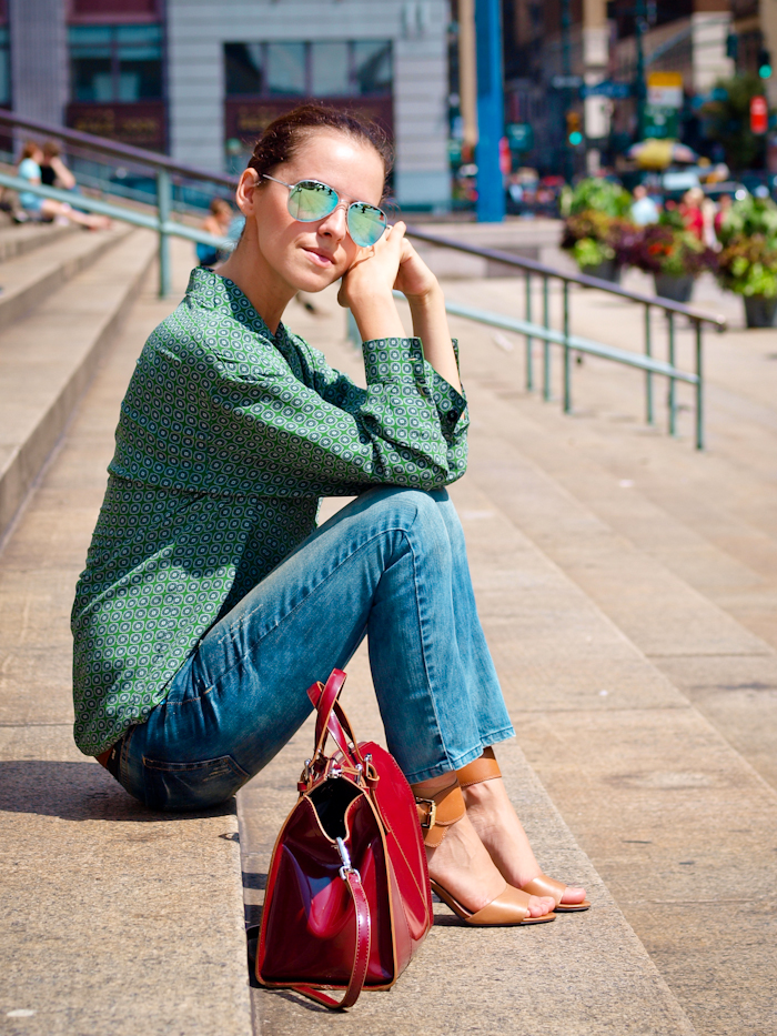 bittersweet colours, street style, jeans, New York, michael kors shoes,