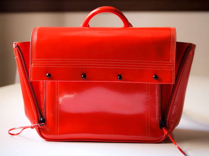 bittersweet colours, new in, red bag, 3.1 phillip lim bag,