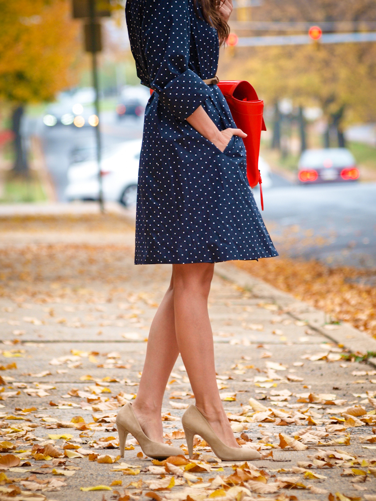 bittersweet colours, trench coat, polka dot trench coat, Ralph Lauren, 3.1 phillip lim bag, street style, fall colors, fall