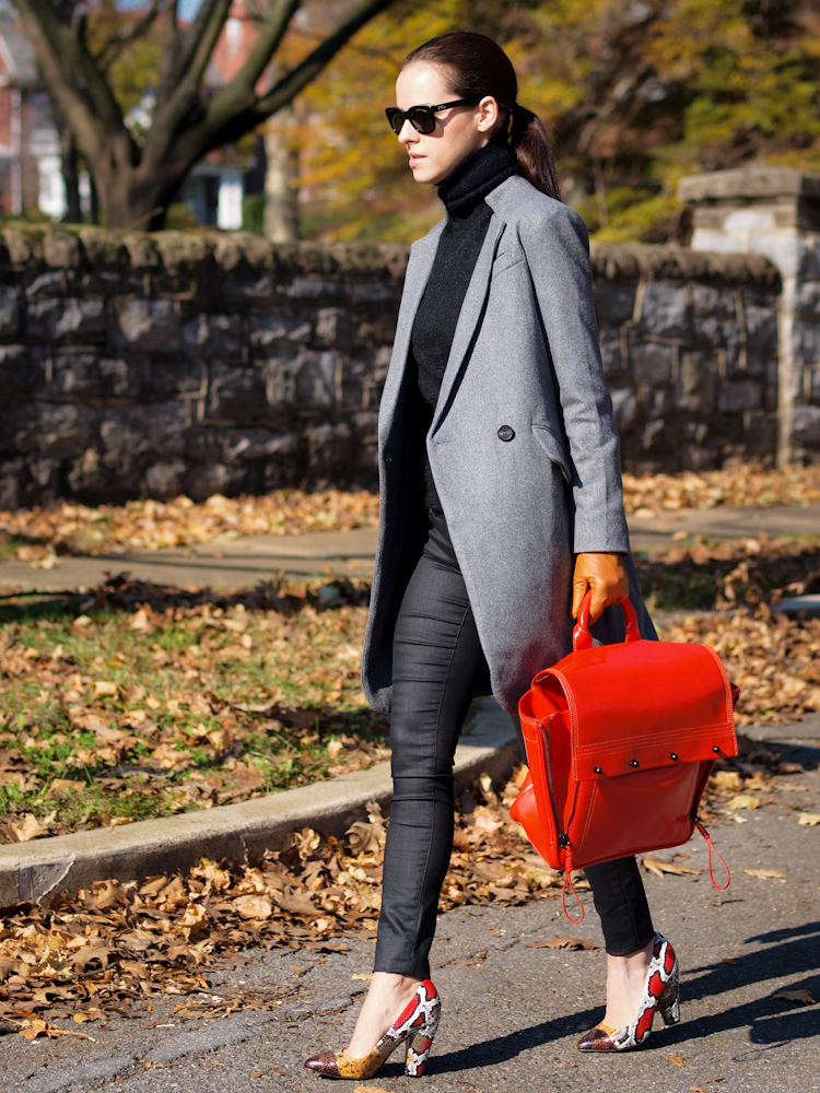 bittersweet colours,  street style, 3.1 phillip lim bag, red bag, masculine trend