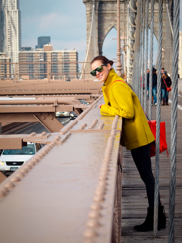 bittersweet colours, New York, colorful coats, yellow coat, 3.1 phillip lim bag, holidays, mirrored sunglasses, street style,
