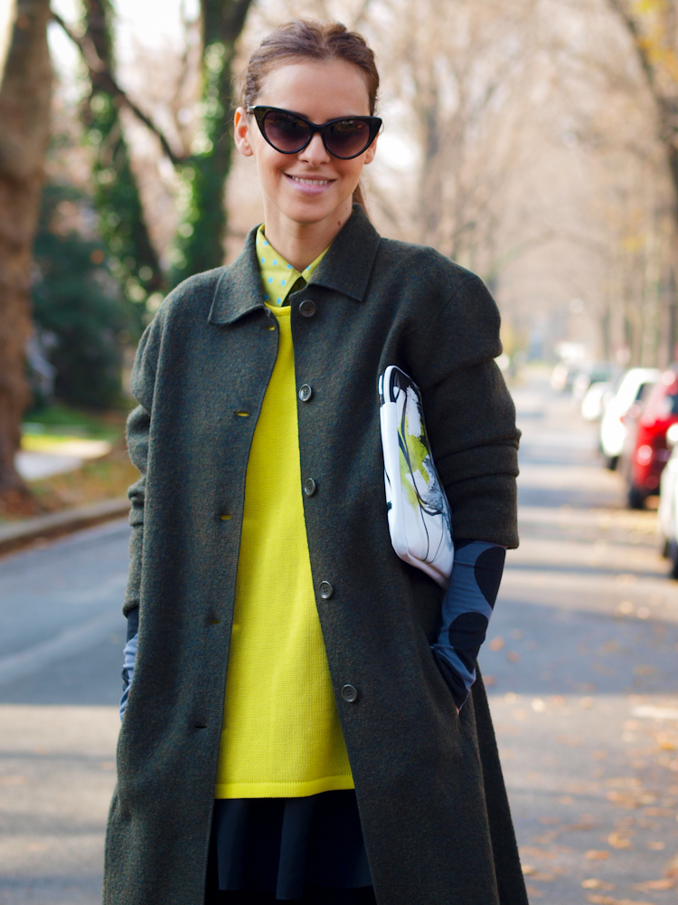 bittersweet colours, colorful coats, fall coats, street style,