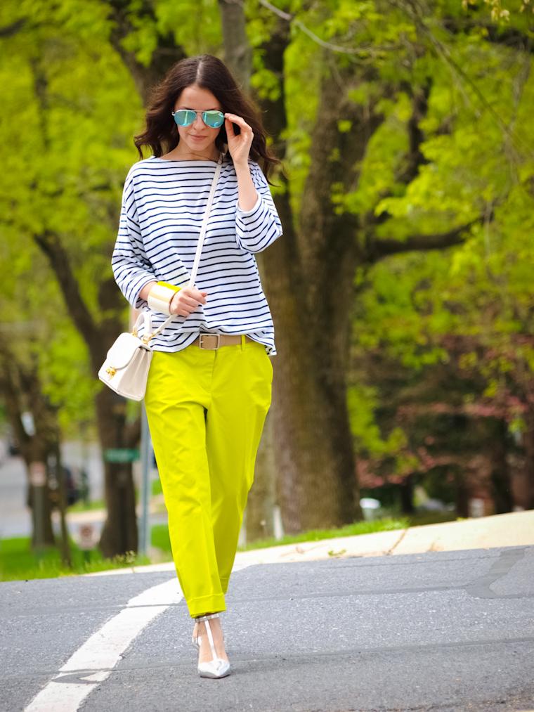bittersweet colours, 3 Bittersweet colours combination, street style, stripes, metallics trend, 3.1 Phillip Lim, Zara, New York, J Crew, Joe fresh, COLORS, mirrored sunglasses, Summer 2013 trends,