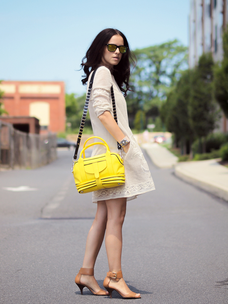 bittersweet colours, Michael Kors, Paul & Joe sister, Fabiola Pedrazzini bag, COLORS, Summer 2013 trends, mirrored sunglasses, street style, fashion, macrame dress