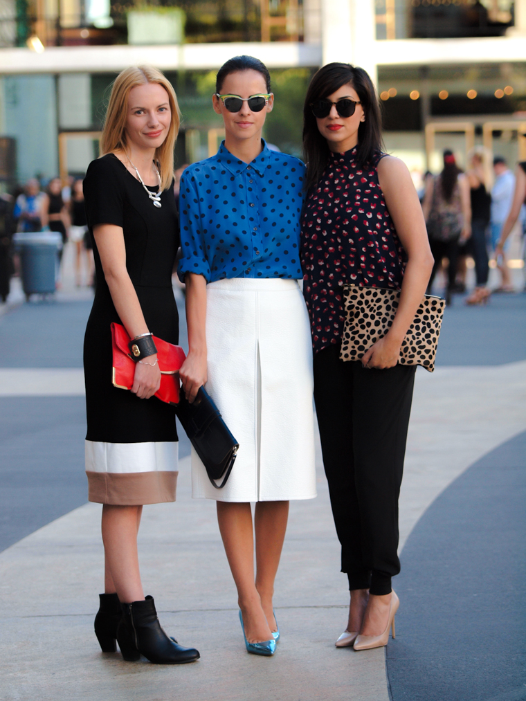 ASOS, bittersweet colours, COLORS, fall 2013, Fall trends, Joe fresh, Lincoln Center NYFW, miu miu, NYFW, polka dots, Prada, street style, Tres Jewellery,
