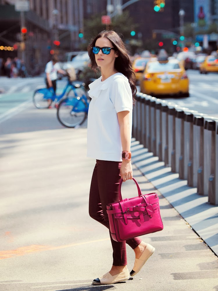 bittersweet colours, NYFW, New York, Joe fresh, Reed Krakoff, CHANEL, Chanel espadrilles, burgundy color, Fall trends, street style, COLORS,