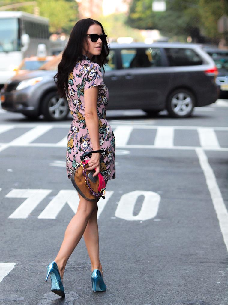 bittersweet colours, Lincoln Center NYFW, nyfw 2013, NYFW, street style, New York, floral prints, Proenza Schouler, miu miu, Topshop, COLORS, metallics trend, Nenette Lepore, Brandon Sun, S/S 2014 Collections,