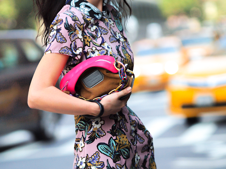 bittersweet colours, Lincoln Center NYFW, nyfw 2013, NYFW, street style, New York, floral prints, Proenza Schouler, miu miu, Topshop, COLORS, metallics trend, Nenette Lepore, Brandon Sun, S/S 2014 Collections,