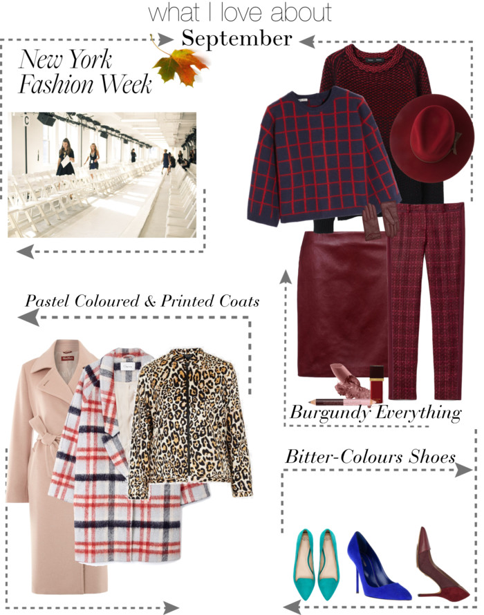 nyfw. bittersweet colours, fall trends, burgundy trend, pointers shoes