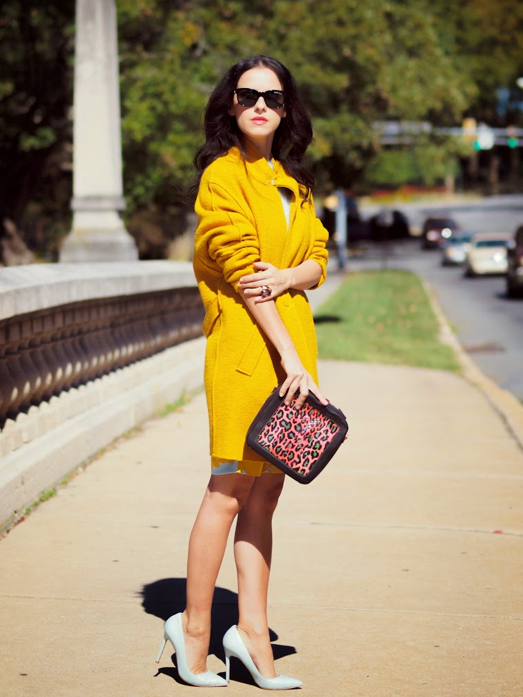 bittersweet colours, fall colors, Zara, 3.1 Phillip Lim, Meredith Wendell, Express, prints, animal print, COLORS, yellow, street style,