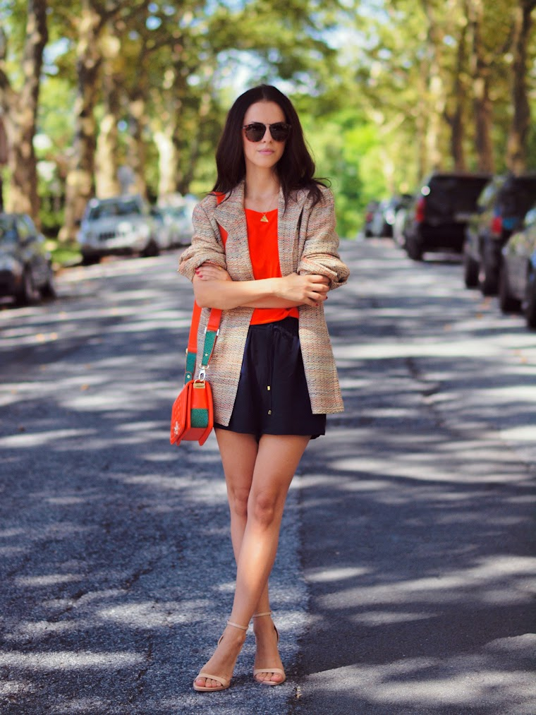 bittersweet colours, COLORS, fall colors, orange, street style, Tres Jewellery, romper,