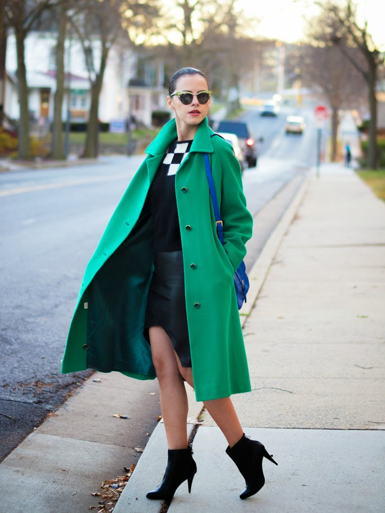 bittersweet colours, cashmere coat, COLORS, Cynthia Rowley, Diesel, fall 2013, fall colors, Fall trends, green, Liz Claiborne, Prada, street style, vintage,