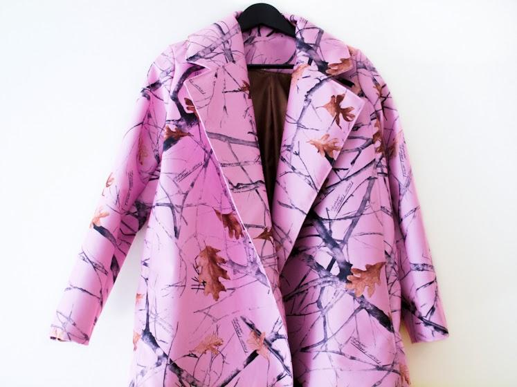 bittersweet colours, DIY, diy coat, Pink coat, fall colors, Fall trends, fall 2013, prints, leaves prints, PINK TREND, PINK,