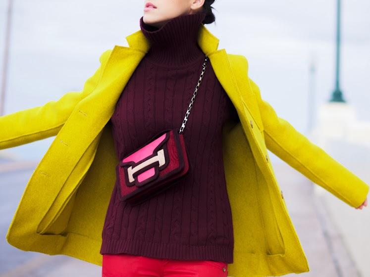 bittersweet colours, burgundy trend, Celine, celine espadrilles, color blocking, COLORS, Joe fresh, Mango, ootd, pierre hardy, RED, street style, winter trends