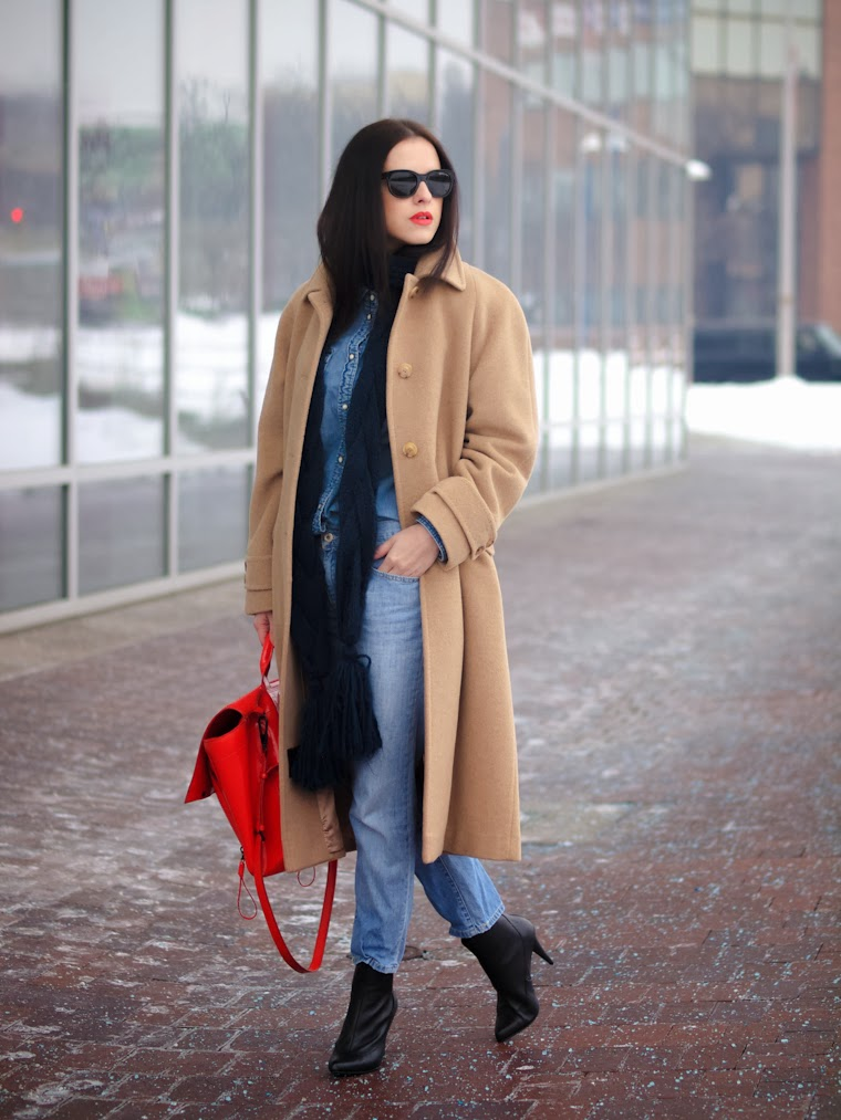3.1 Phillip Lim, American Eagle, bittersweet colours, camel, CAMEL coat, denim on denim, denim trend, Diesel, Levis, street style, winter trends, camel trends