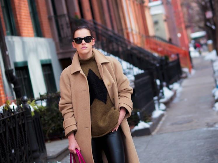 bittersweet colours, CAMEL coat, Christian Louboutin, J.Crew, newyork, NYFW, nyfw F/W 2014, PINK, Reed Krakoff, street style, winter trends,