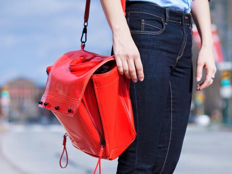 3.1 Phillip Lim, bittersweet colours, classic style, Joe fresh, navy, Nine West, Philadelphia, red pumps, Spring, street style, BLUE JEANS,
