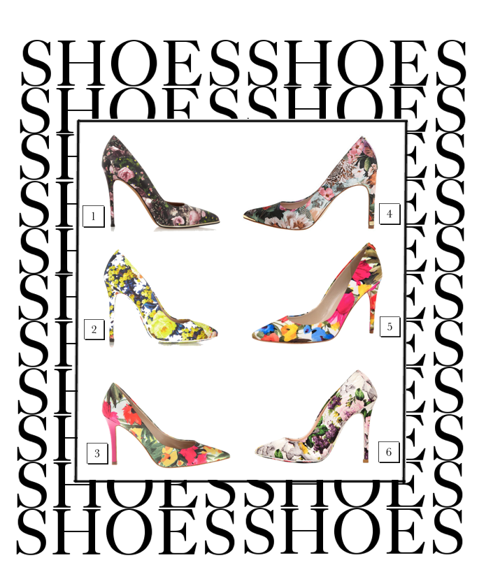 bittersweet colours, WISHLIST, shopping, Spring, floral prints, floral print pumps, J Crew, Mary Katrantzou, Manolo Blahnik floral shoes, miu miu floral shoes, Givenchy floral shoes, MSGM floral shoes, Ted Beker, Shoes,