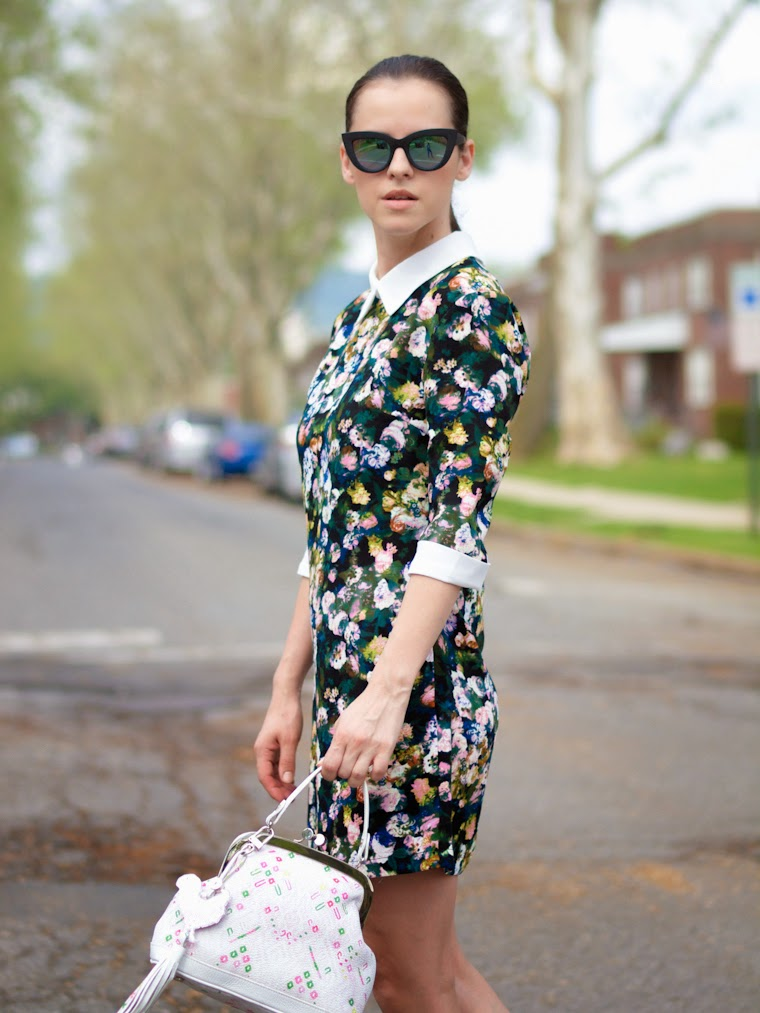 asos sunglasses, bittersweet colours, bizi buenos aires bag, floral print, kenzo shoes, street style, summer, mirrored sunglasses, ASOS, Giveaway,