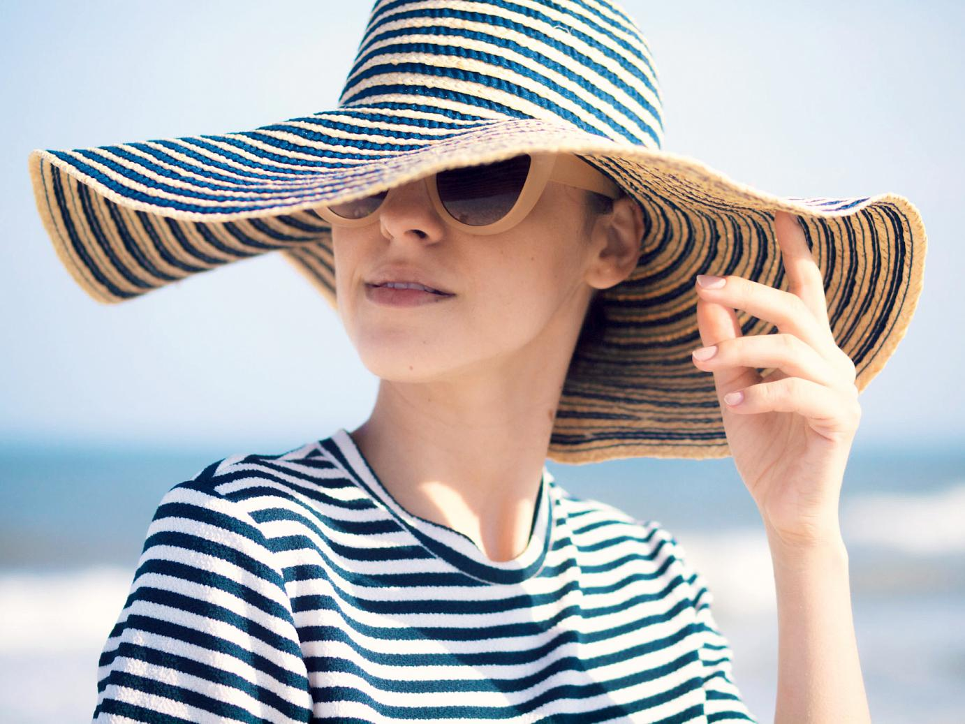 bittersweet colours, stripes, summer stripes, calvin klein, fedora hat, long beach island nj, summer, stripes on stripes