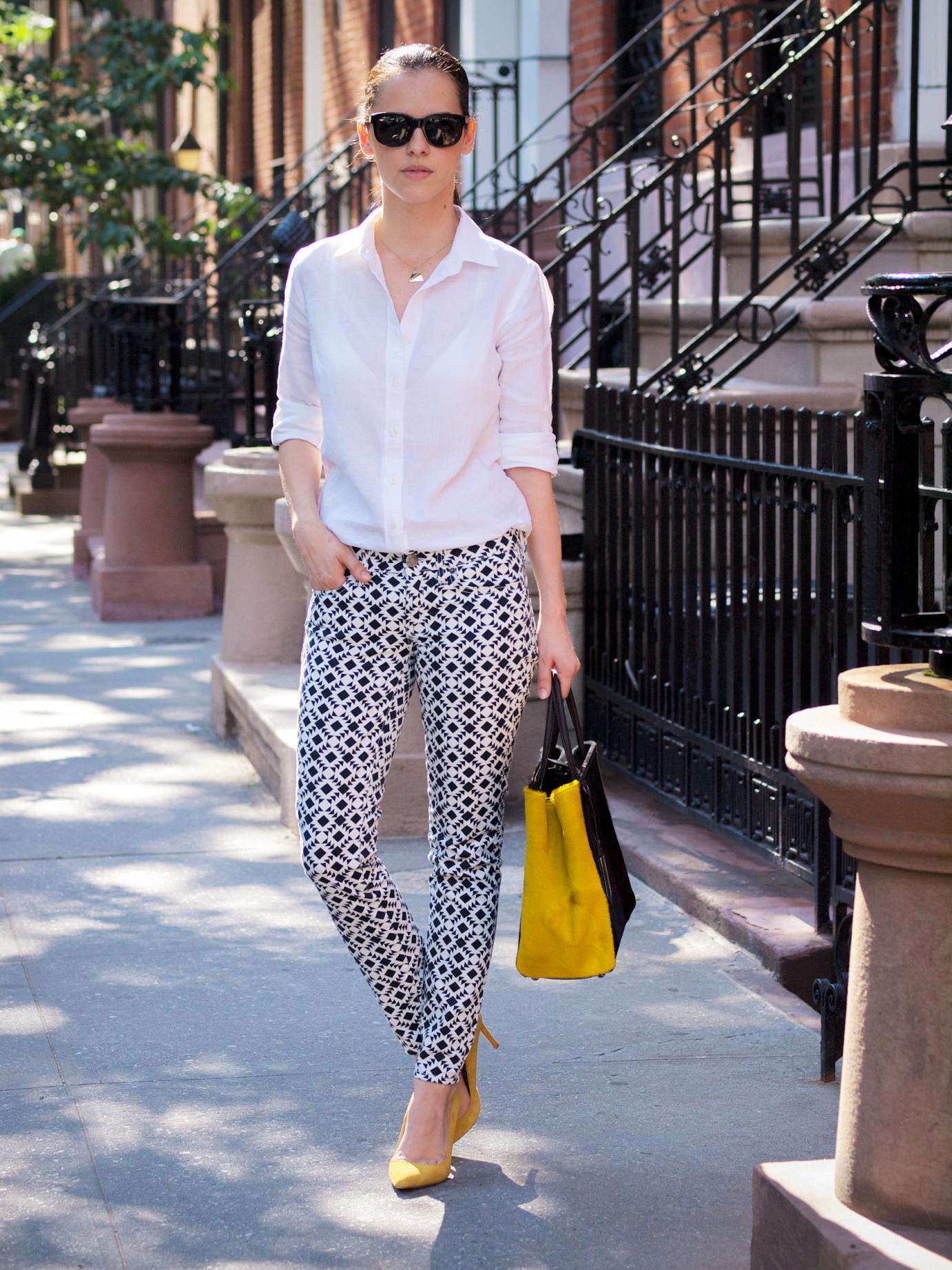 bittersweet colours, new york, street style, J.Crew jeans, Printed jeans, fendi bag, 2jours fendi bag, summer