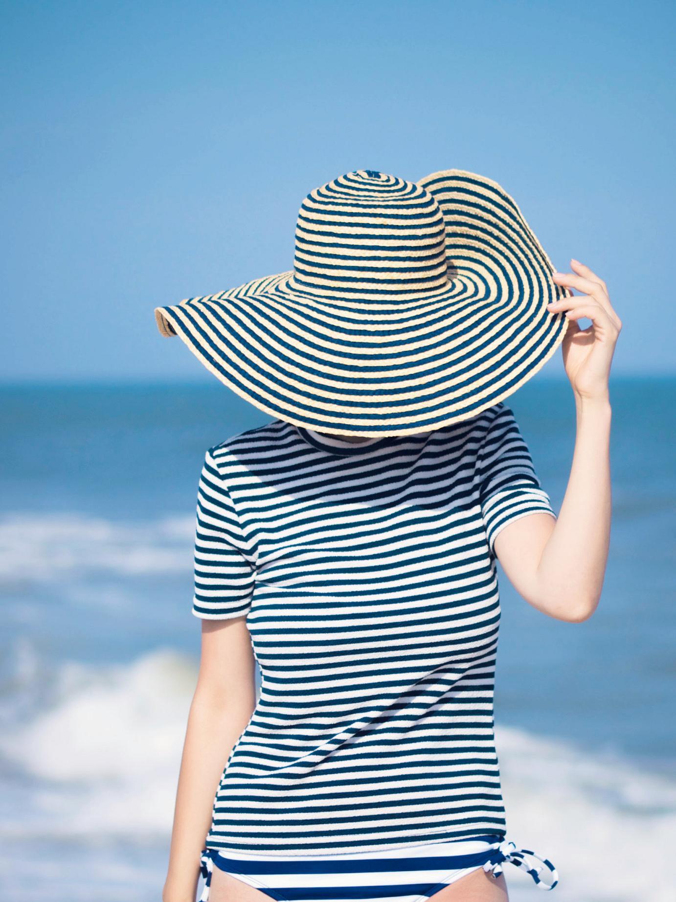 bittersweet colours, stripes, summer stripes, calvin klein, fedora hat, long beach island nj, summer, stripes on stripes