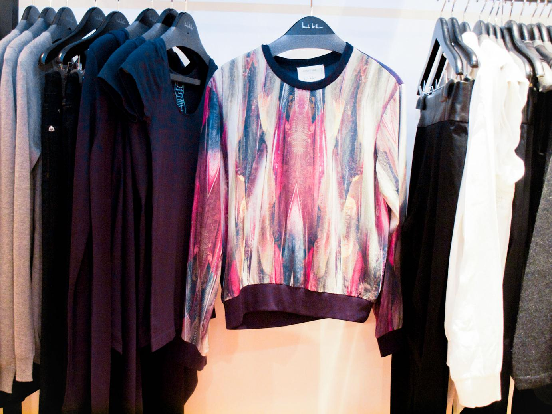 Nicole Miller, showroom, Philladelphia, bittersweet colours, fall collection