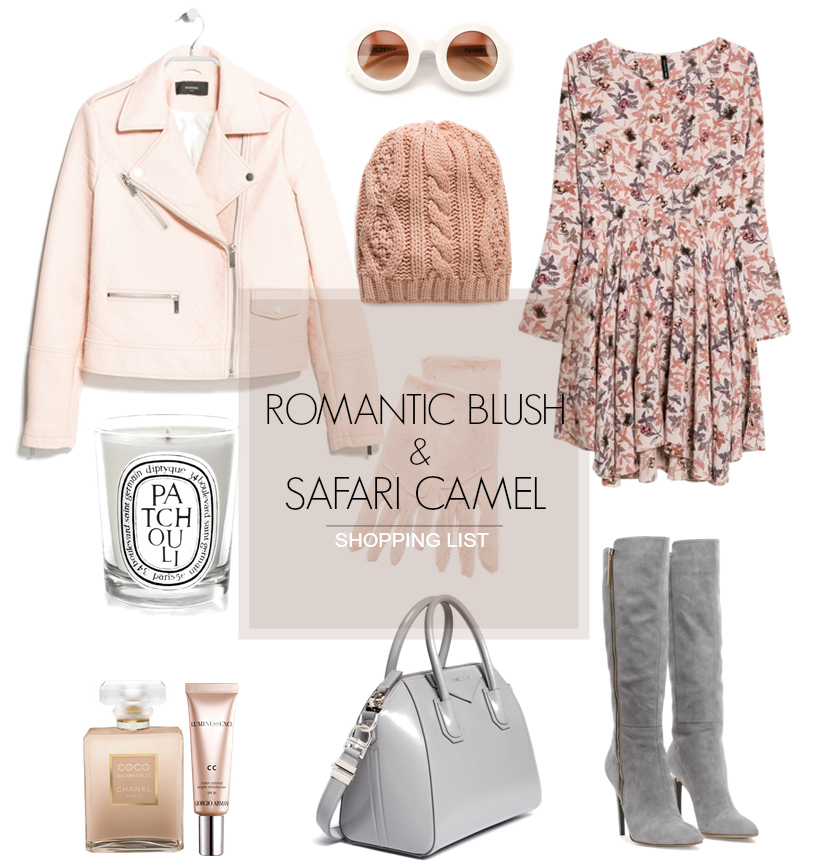 bittersweet colours, wishlist, camel trend, blush colors, blush trend, fall colors, fall essentials, mango, givenchy , french connection boots, over the knee boots, nude heels, cape, hats,